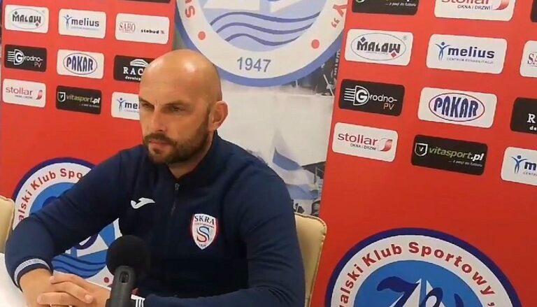 Trener Marek Gołębiewski o meczu z Wigrami